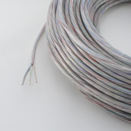 Kabel, 5x0,75mm², rund, transparent