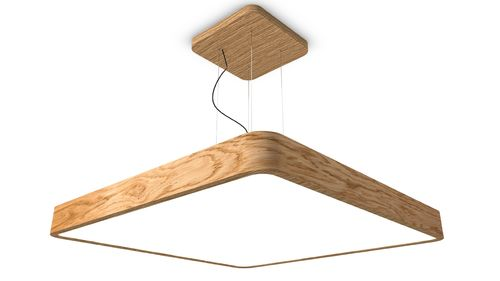 TRILUM woodLED SQUARE hang 1200
