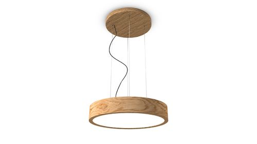 TRILUM woodLED ROUND hang 600