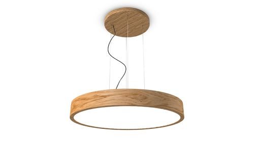 TRILUM woodLED ROUND hang 900