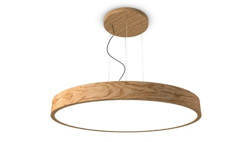 TRILUM woodLED ROUND hang 1200
